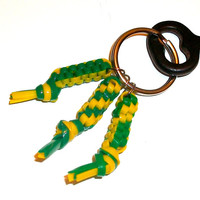 Green Bay Packer Inspired Rexlace Key Dangle