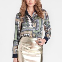 Triton Metallic Skirt By Elliatt