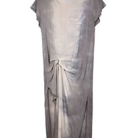Tina & Jo Smoke Grey Gathered Side Dress