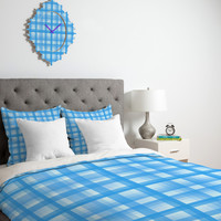 Lisa Argyropoulos Country Plaid Bonnet Blue Duvet Cover