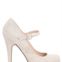 Glittery Platform Pump with Maryjane Strap