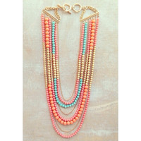 HAMPTON'S LONG BEADED NECKLACE