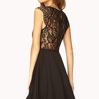 Dainty Lace A-Line Dress