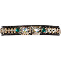 BLACK STATEMENT EMBELLISHED WAIST BELT