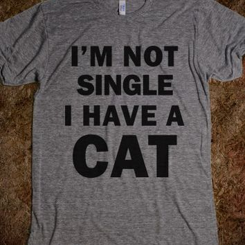 I'm Not Single-Unisex Athletic Grey T-Shirt