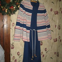 Vintage mod 70s Dress with Jacket and tie belts by Lady Carol of New York
