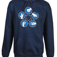 Rock Paper Scissors Lizard Spock Hoodie - Blue,