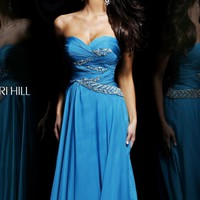 Ruched Sweetheart Gown by Sherri Hill