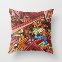 Distracted Throw Pillow by DuckyB (Brandi)