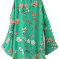 ROMWE | Floral Print Loose Green Dress, The Latest Street Fashion