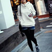 Unique Long Sleeve Long Women Hoodie at Online Apparel Store Gofavor