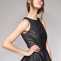Leather star peplum top