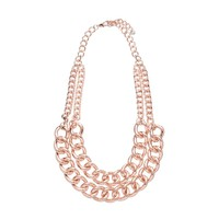 Lexi Double Chain Link Necklace - Forever New