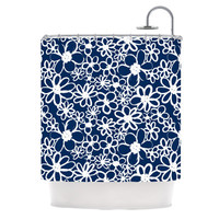 KESS InHouse Daisy Lane Polyester Shower Curtain
