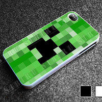 Minecraft Creeper for iphone 4/4s case, iphone 5/5s/5c case, samsung s3/s4 case cover in sibiru