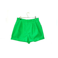 80s Jewel Green Shorts // Medium
