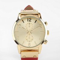 Double-Dial Leather Watch - Urban Outfitters