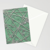 Sparkle Net Mint Stationery Cards by Project M