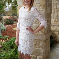 Lola Lace Dress - Ivory | Hazel & Olive