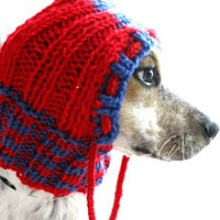 Small dog hoodie, dog hat, pet cowl, pet clothing, dog clothes, gift idea