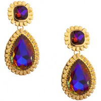 Orion Statement Earrings Gold at Prima donna