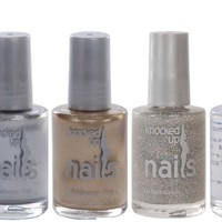 Knocked up Nails Maternity 5-Bottle Santa Holiday Collection - Red, Gold, Silver, Glitter & Base/Top Coat