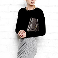 Sleek Draped Skirt