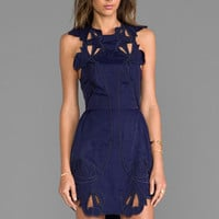 Alice McCall Sea Rose Dress in Navy