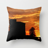 Castle Sunset  - JUSTART © Throw Pillow by JUSTART