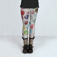 Collage Dots Legging by JUSTART (Leggings)