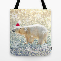 Polar Holiday Tote Bag by Lisa Argyropoulos