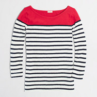 FACTORY COLORBLOCK STRIPE BOATNECK TEE