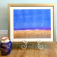 Horizon Watercolor Original Painting | BRIKA - A Well-Crafted Life