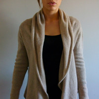 Soft Wrap Cardigan Machine Knitting Pattern