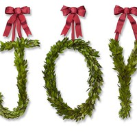 Myrtle Letter Wreath, Joy
