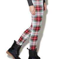Ponte Plaid Legging | Wet Seal