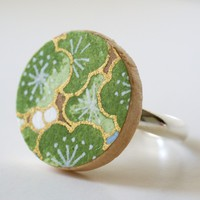 Handmade Gifts | Independent Design | Vintage Goods Washi Blossom Ring - Jade - Jewelry - Girls