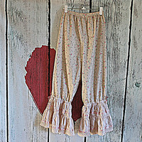 Women's Upcycled Babydoll Shirt | Shabby Bloomies | Pantalettes | Pantaloons | Ladies Ruffled Pants