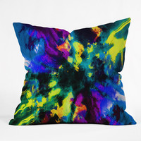 Caleb Troy Bat Crazy Clouds Throw Pillow