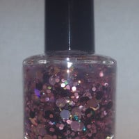 Ten Rounds With Jose Cuervo - Holographic Round Glitter Handmade Nail Polish