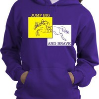 Jumping Horse and Rider Purple Hoodie