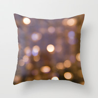 Bokeh Rain Throw Pillow by Shawn Terry King