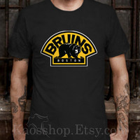 Boston Bruins Black Dsign t-shirt men S,M,L,XL