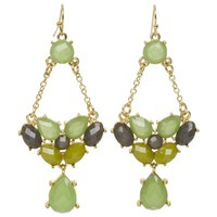 Kirra Tate Link Lime & Gray Chandelier Earrings