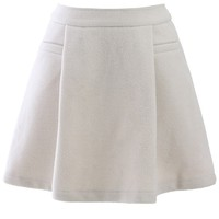 Off-White Wool-Felt Skater Skirt