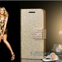 New Bling Bling Glitter Gold Silver Pink iPhone 5 5s case cover + Free Protector
