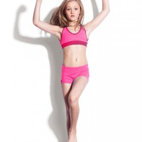 Two-Tone Tri-Top | Jo+Jax Dance Tops for Girls - Dance Apparel