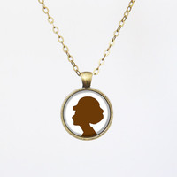 Personalized Silhouette Design Necklace -Black Friday Limited number, custom words/phrases available