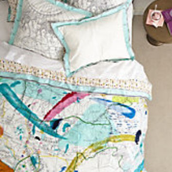 Tradewinds Duvet by Anthropologie Multi