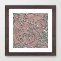 Sparkle Net Pink Framed Art Print by Project M